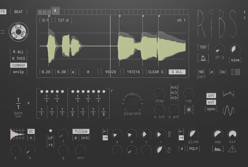 Hvoya Audio Ribs plugin interface