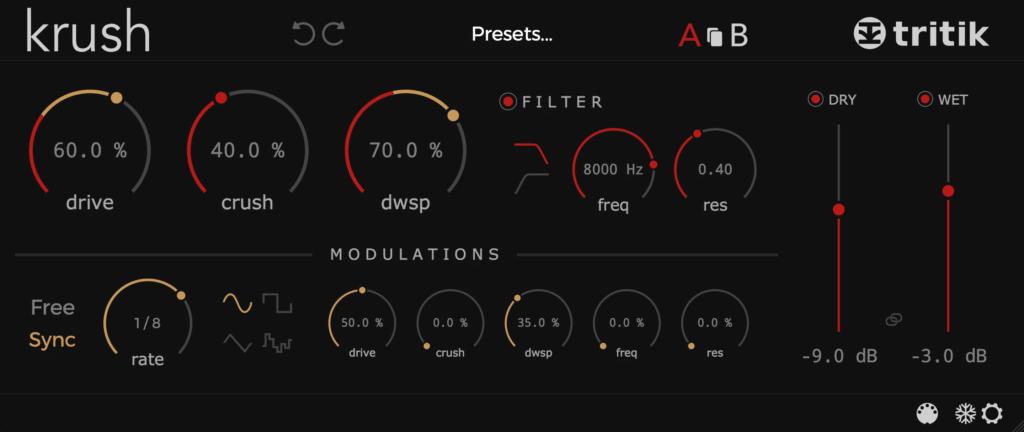 Tritik Krush plugin interface