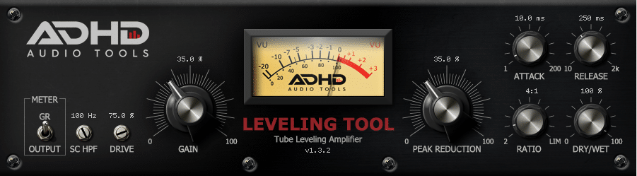 ADHD Leveling Tool plugin interface
