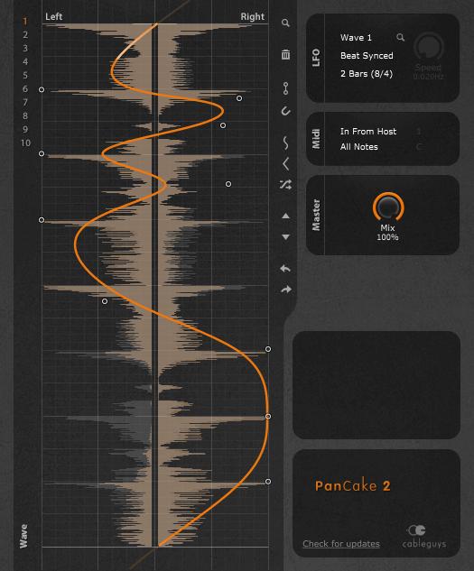 Cableguys Pancake 2 plugin interface