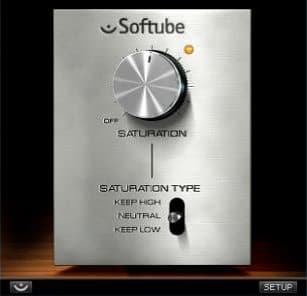 Softube Saturation Knob plugin interface