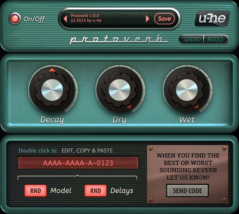 u-he Protoverb plugin interface