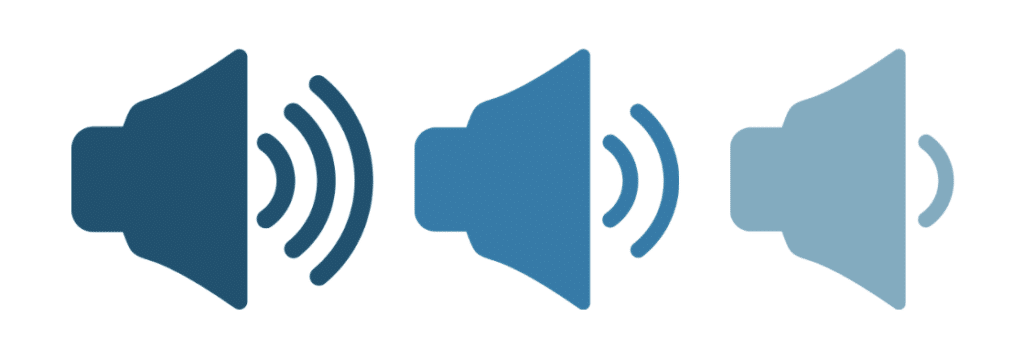 Lower the volume