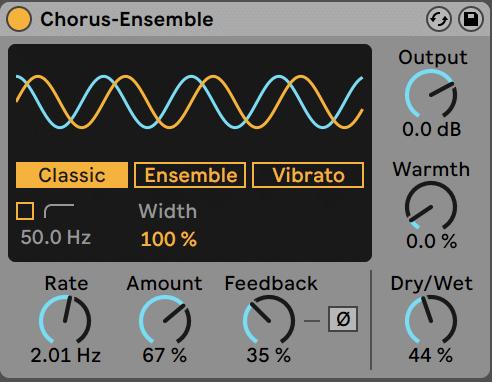 Ableton Live Chorus-Ensemble