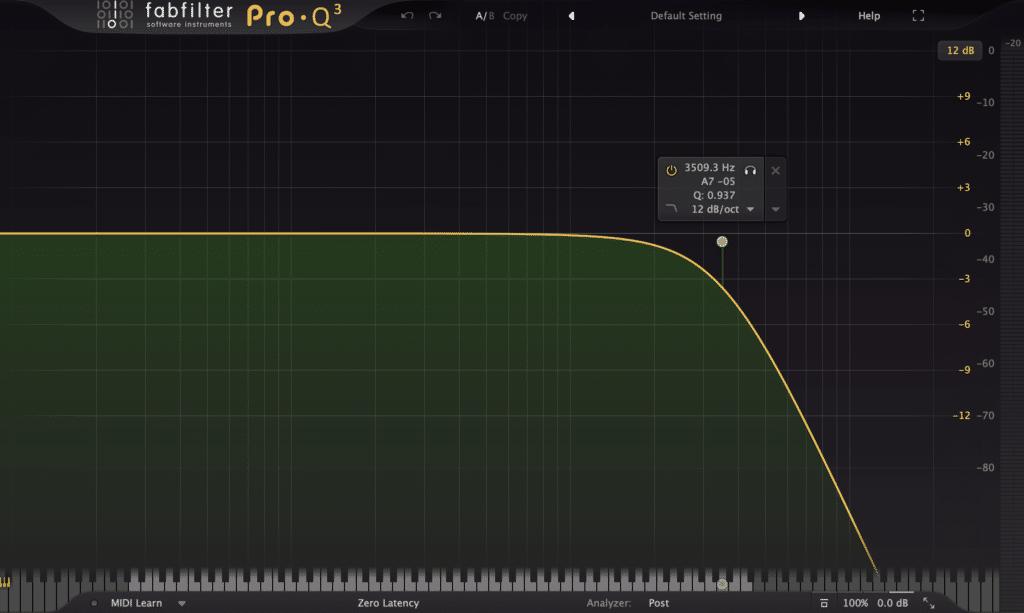 Pro-Q 3 Low-pass Filter