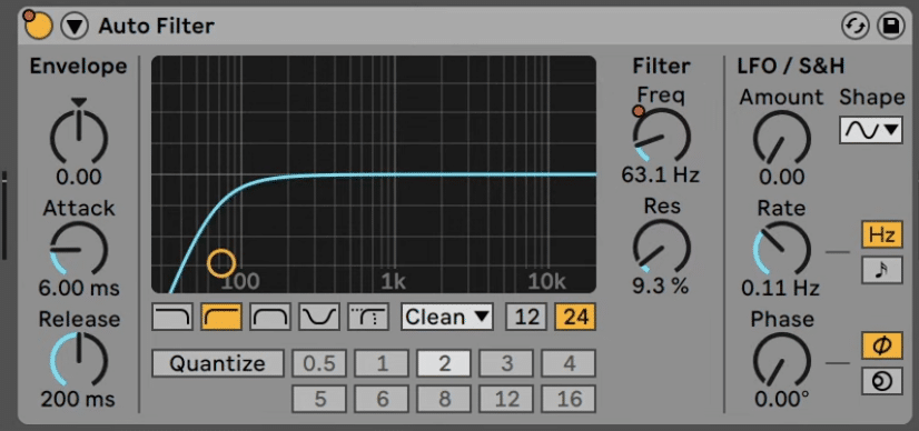 High pass filter on drums