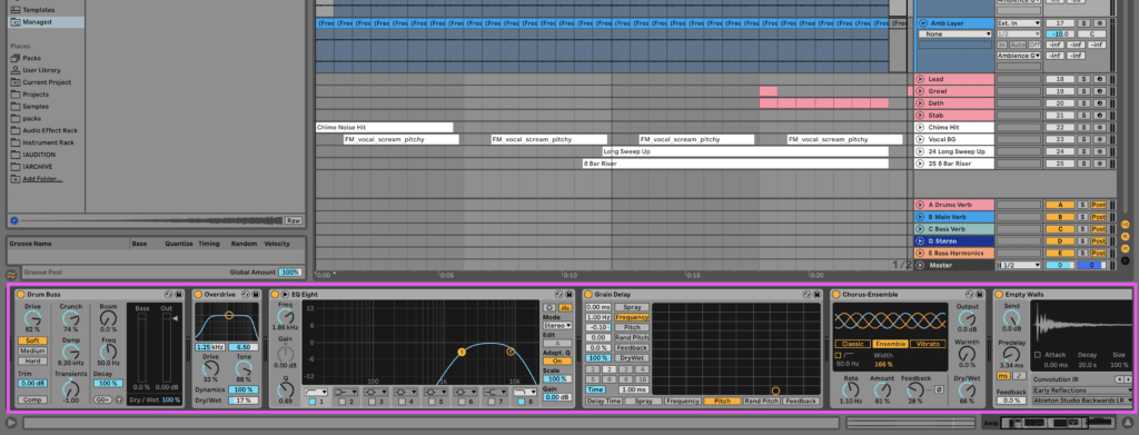 FX on ambience layer