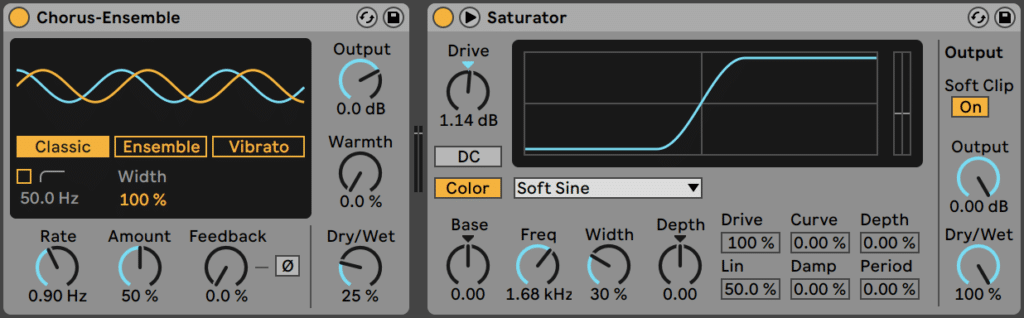 Chorus and Saturation in Ableton Live 11