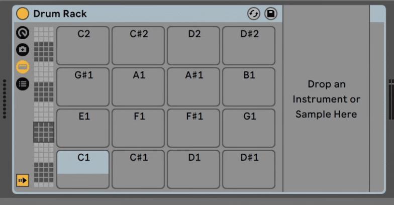 Ableton Live empty drum rack