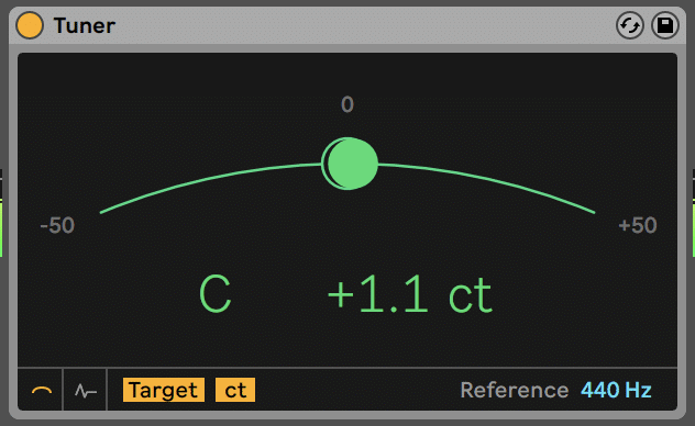 Ableton Tuner to C
