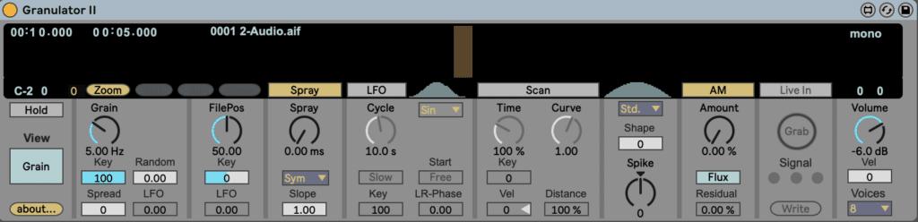 Ableton Live Granulator II