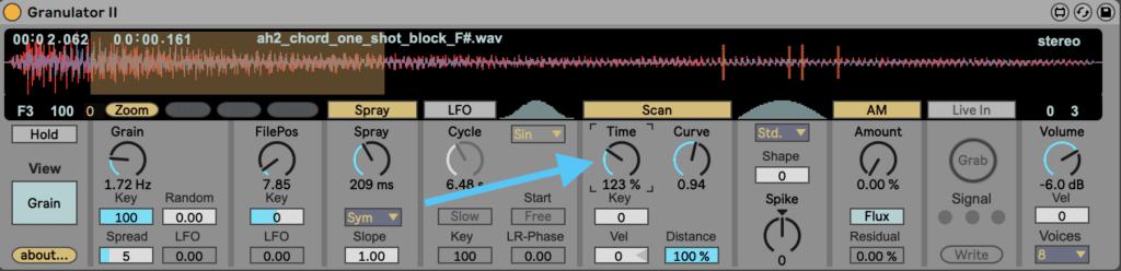 Ableton Live Granulator II Scan Time